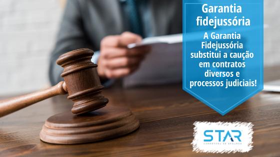 A Garantia Fidejussória substitui a caução em contratos diversos e processos judiciais!